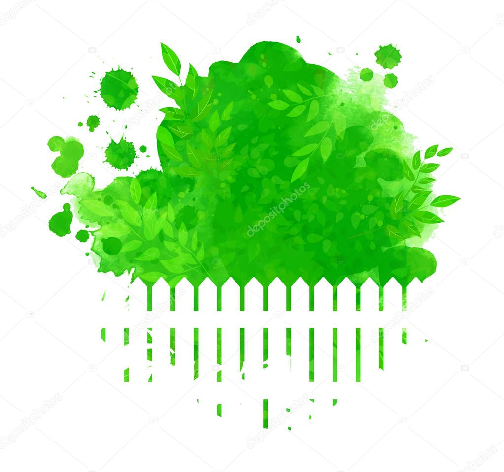 Green summer and spring background