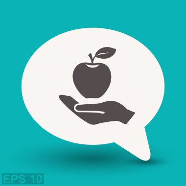 Pictograph of apple  for design.