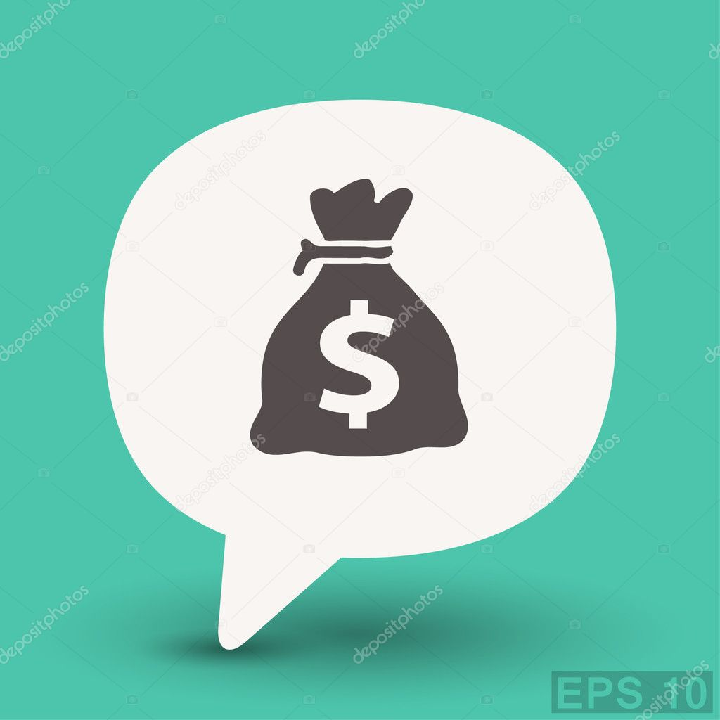 Pictograph of money for design.
