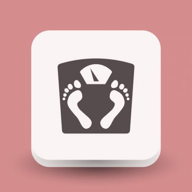 Pictograph of bathroom scale icon