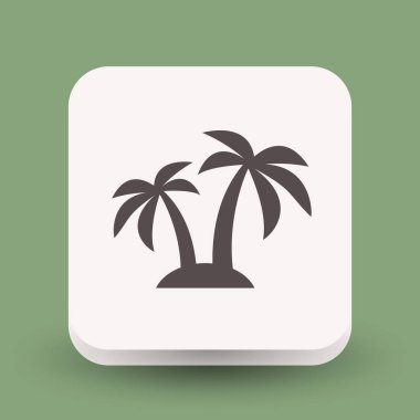 Pictograph of island for design