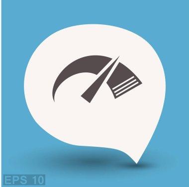 design of speedometer icon