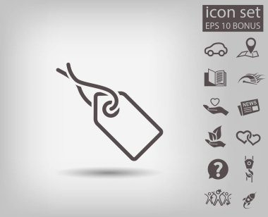 design of tag icon