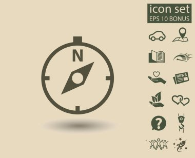 compass icon, navigation concept