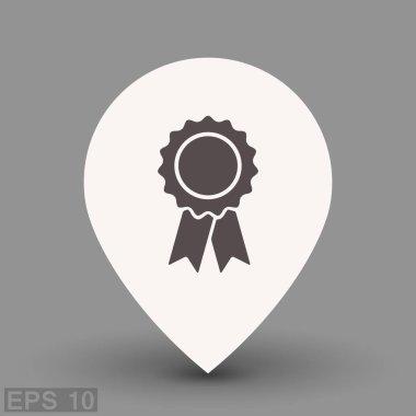 Pictograph of award badge