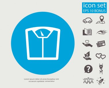 Pictograph of bathroom scale icon vector illustration clip art vector