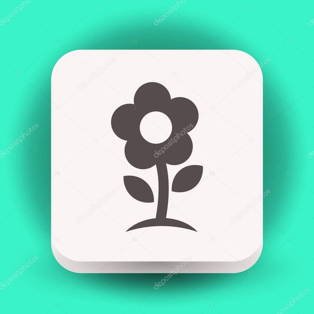 Pictograph of flower icon