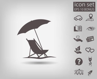 Pictograph of summer vacation. Vector concept illustration for design clip art vector