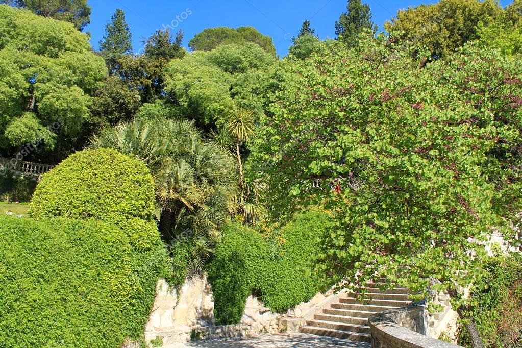 Fountain garden in Nimes, France
