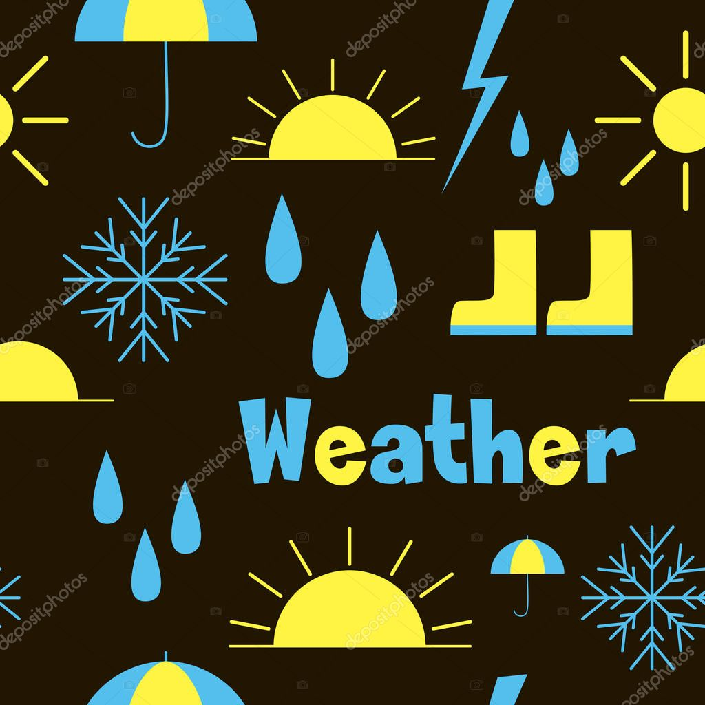 seamless pattern with weather icons