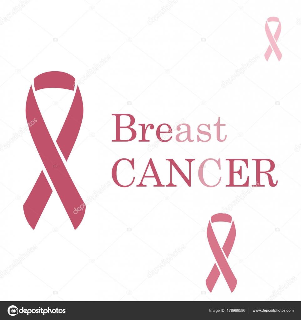 Breast Cancer Ribbon Vector Illustration Stock