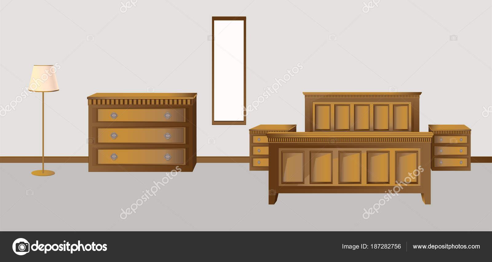 Colori Per Camera Da Letto Classica : Camera da letto classica nei colori di stile antico in noce