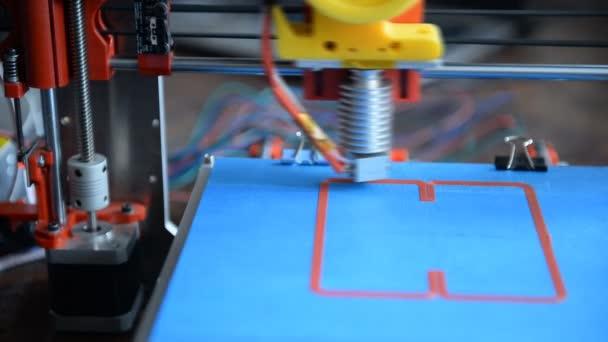 3d the printer prints the part