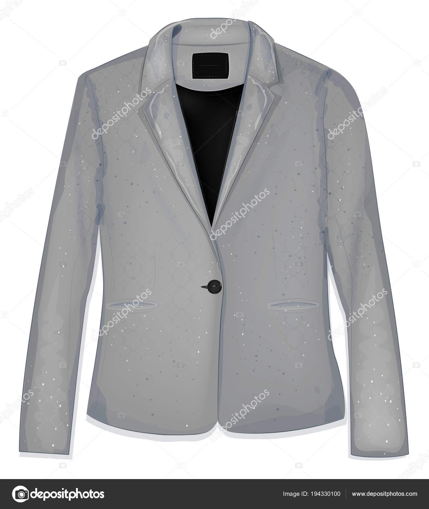 Grigia Bianco Sfondo Moda Affari Abbigliamento Una Giacca w0XOH