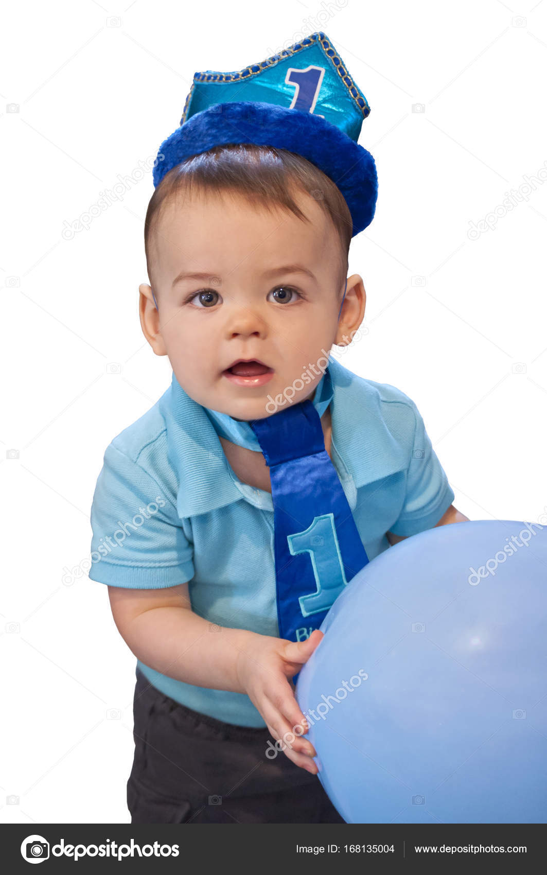 Baby Boy Erster Geburtstag Stockbild