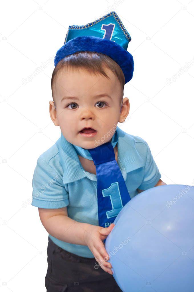 Baby Boy Erster Geburtstag Stockfoto C Visionteller 168135004