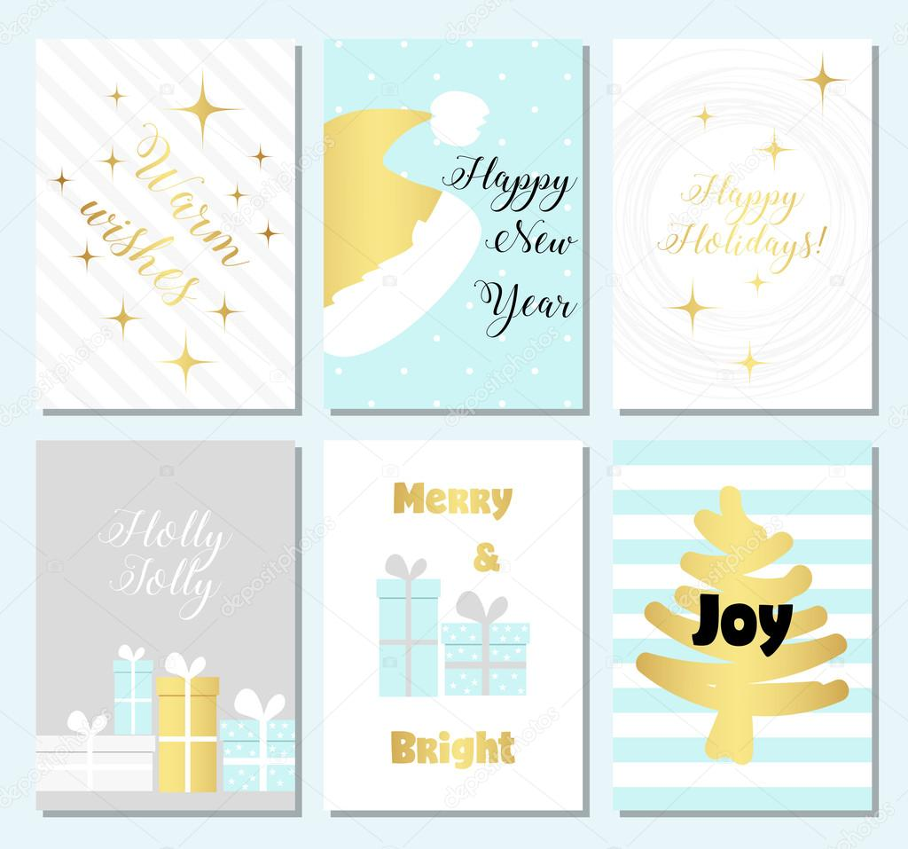 Collection Of Christmas Card Templates Christmas Posters Set With - Christmas card templates to color