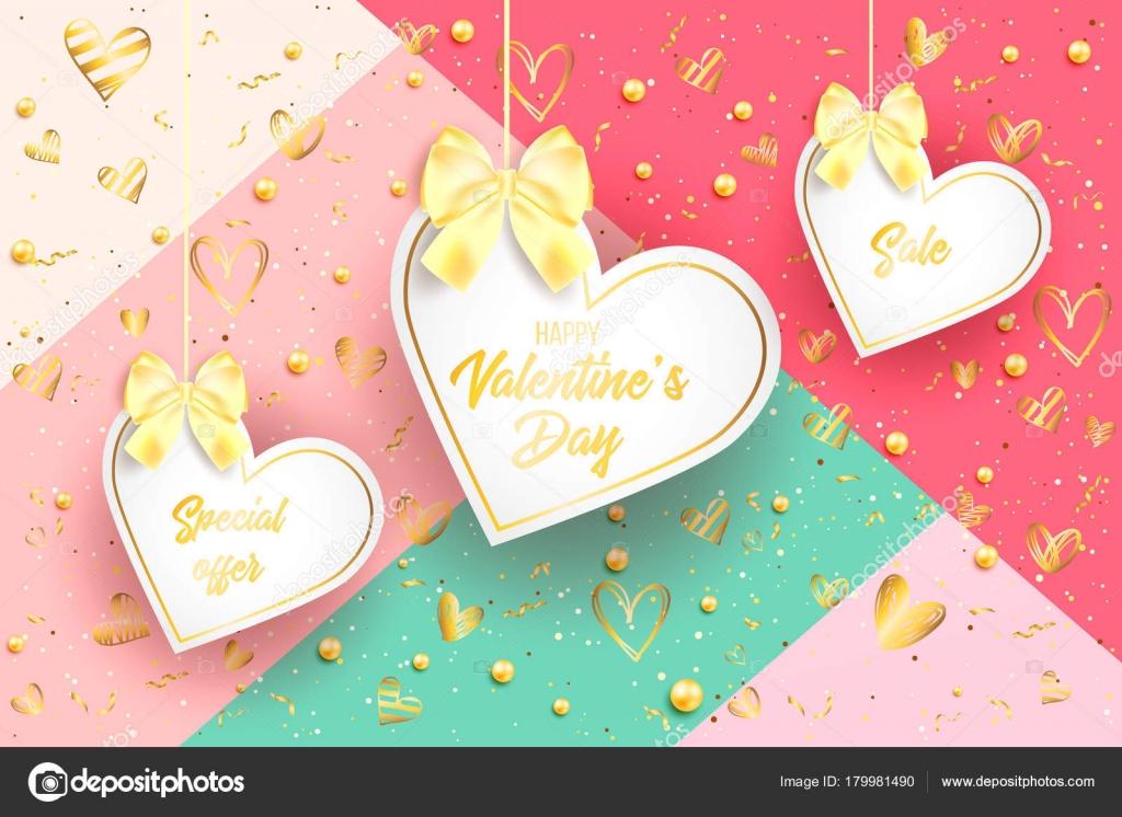 Happy Valentinstag Und Hochzeit Design Elemente Vektor Illustration
