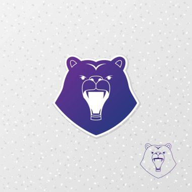 Abstract logo  bear. Vector illustration.