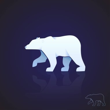 Abstract logo polar bear. Vector illustration.