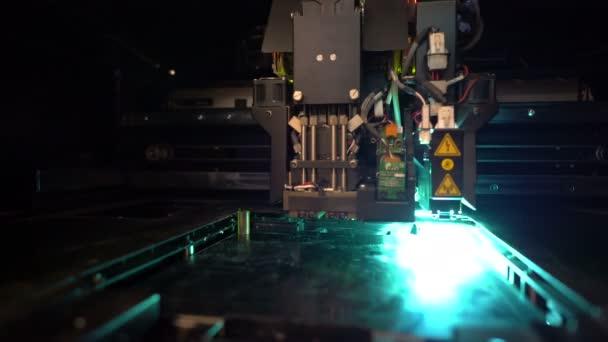 3D printer during printing operation