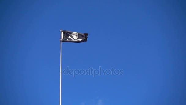 jolly roger - bandiera di un pirata teschio e ossa incrociate