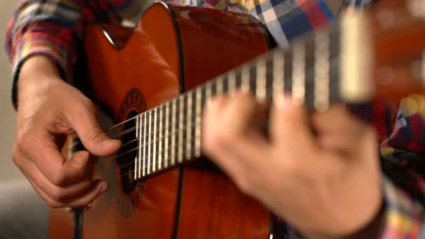 člověk hraje klasická kytara