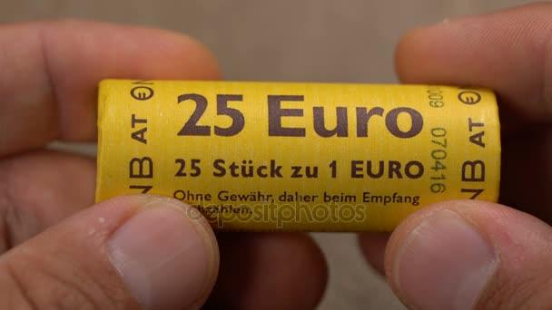 Bar Montenegro 26 September 2017 Auspacken Fünfundzwanzig Euro