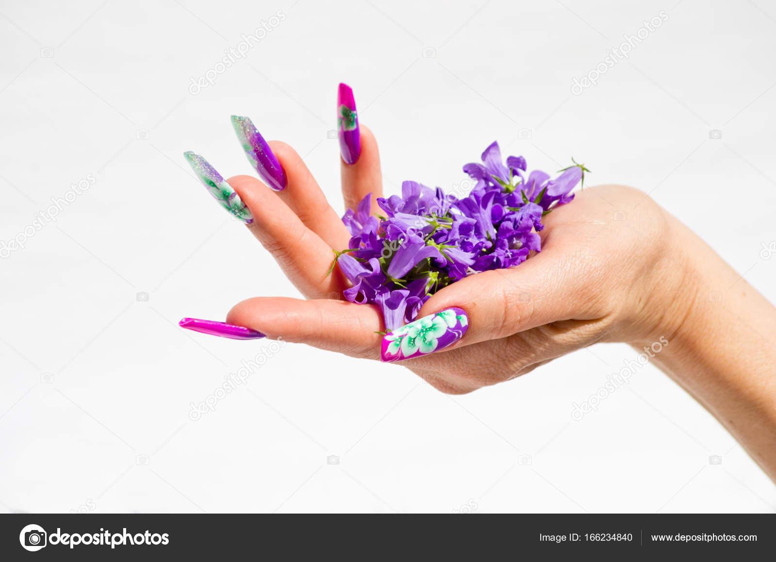 Fondo Uñas Decoradas Blanco Uñas Decoradas Con Arreglos Florales