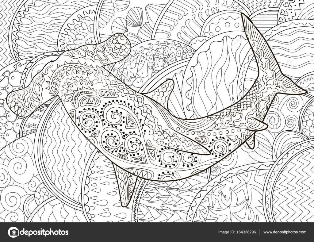 Hammerhai mit hohen details — Stockvektor © Lezhepyoka #164338296