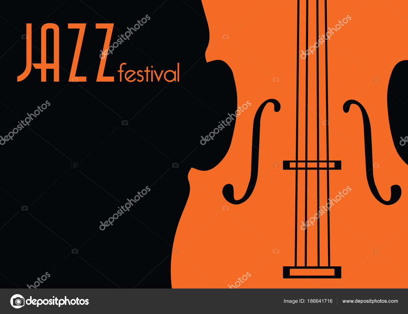 Jazz Music Festival Poster Background Template Stock Vector