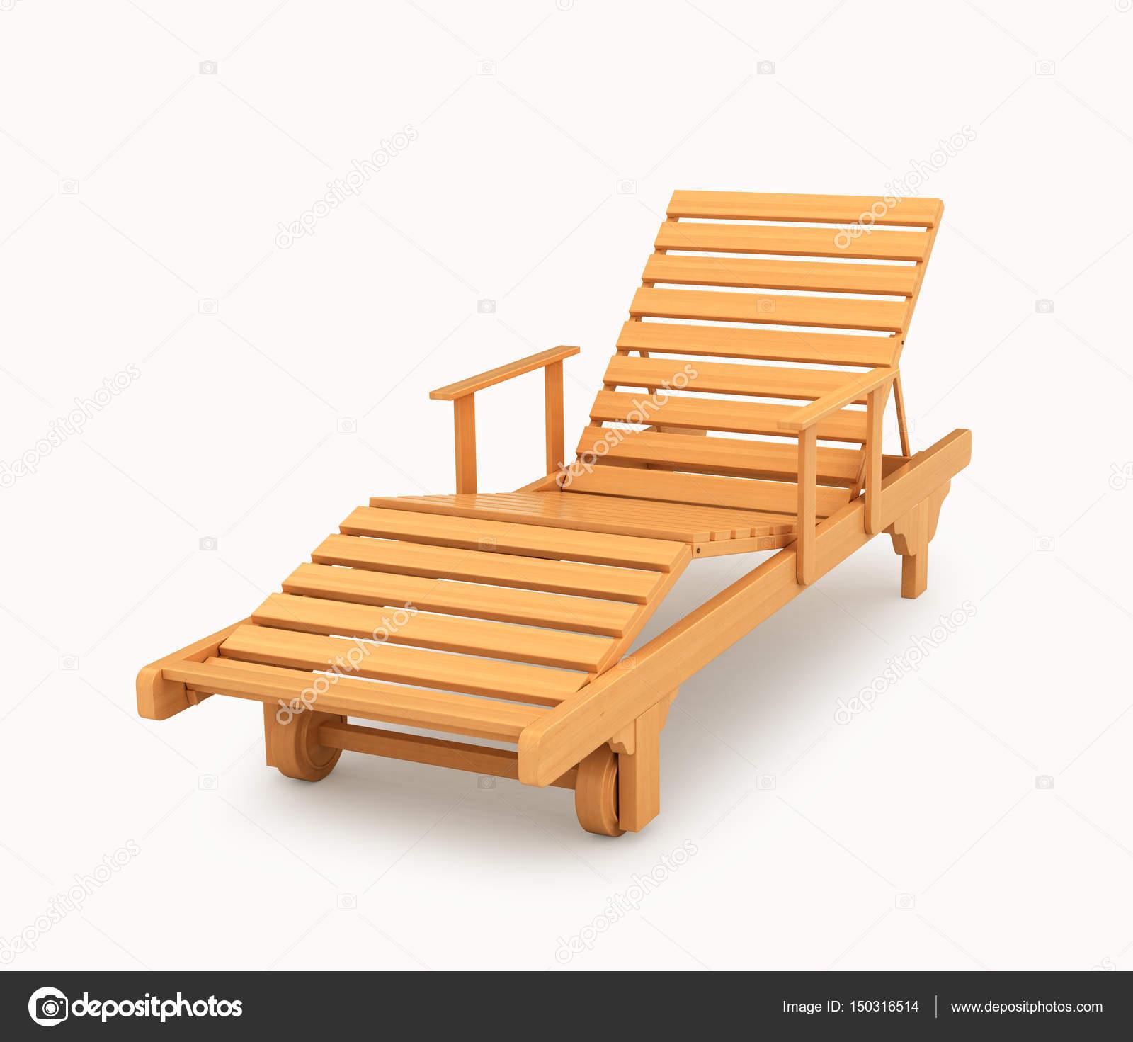 Chaiselongue Aus Holz Möbel Für Einen Strand Und Land Urlaub