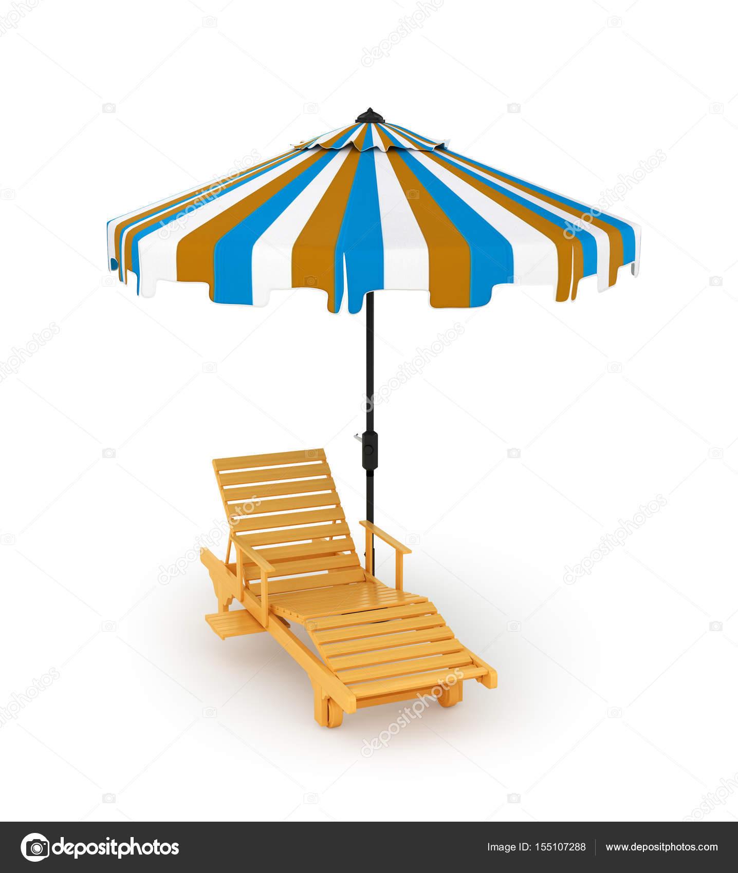 chaise longue sous le parasol
