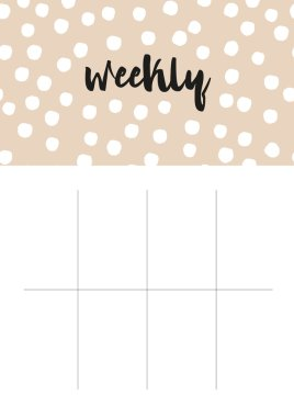 lineated weekly planner blank page