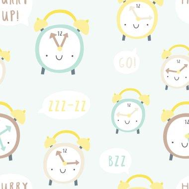 funny clocks pattern