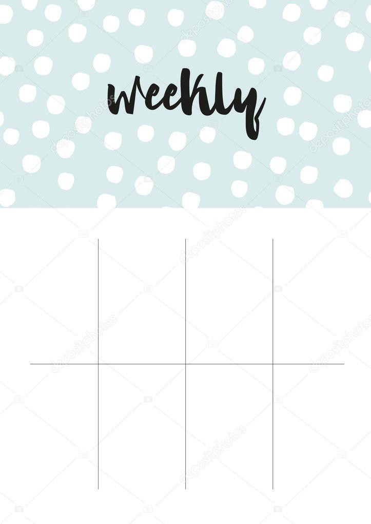 スティックニー ウィークリー プランナー空白のページ ストック