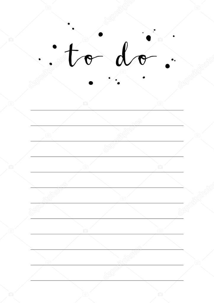 weiße Arbeitsmappenblatt mit Worten zu tun — Stockvektor ...