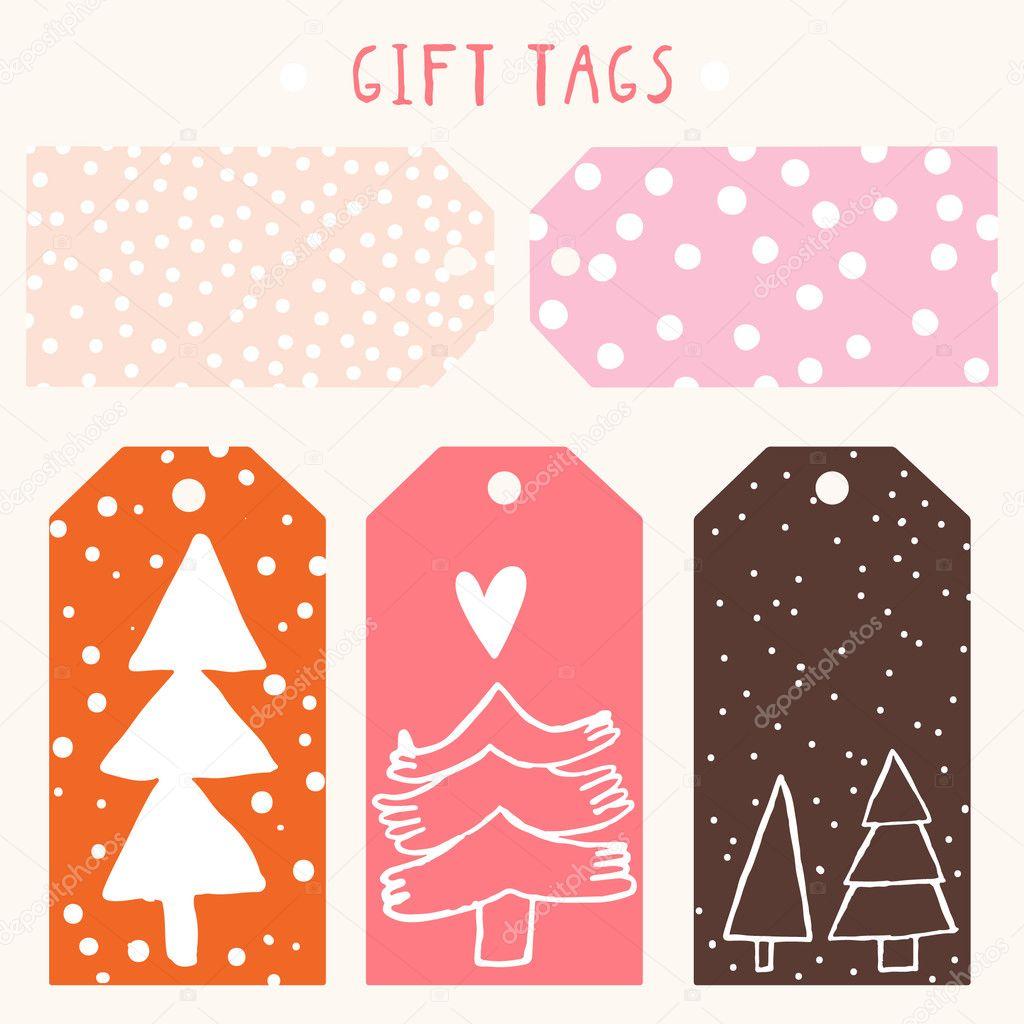 Etiquetas de regalo de Navidad y año nuevo — Vector de stock ...