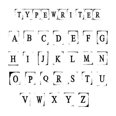monochrome icons with alphabet