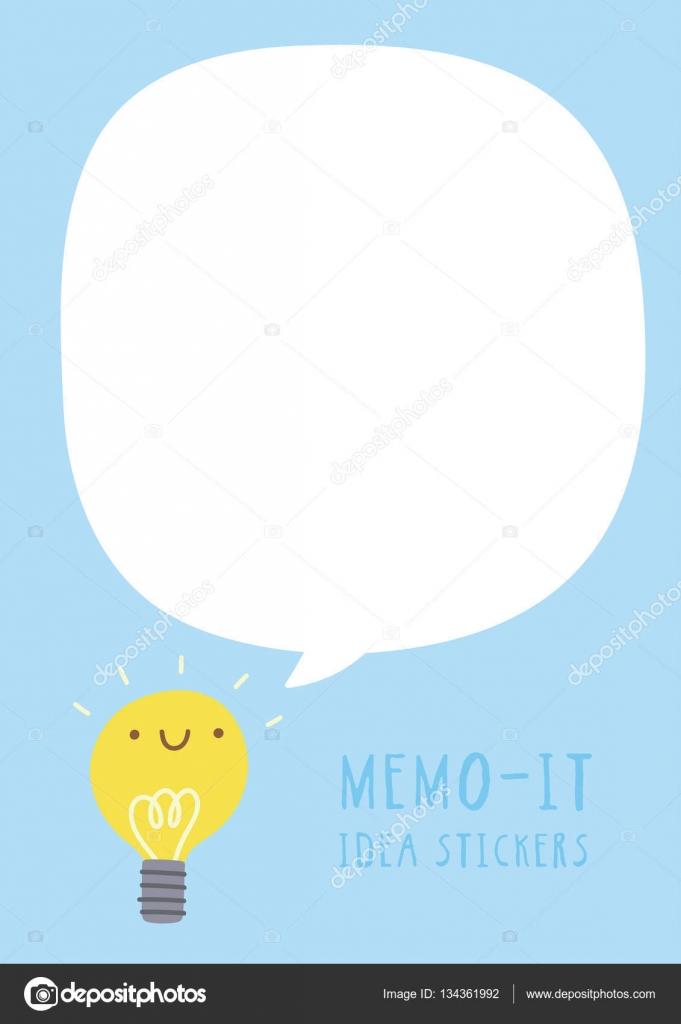 cute memo it sticker template stock vector iliveinoctober 134361992