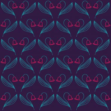 lilly seamless pattern