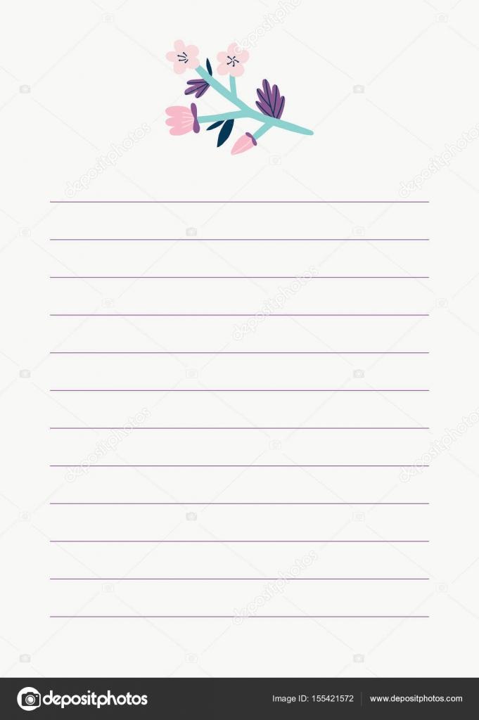 美しいノートのテンプレート — ...