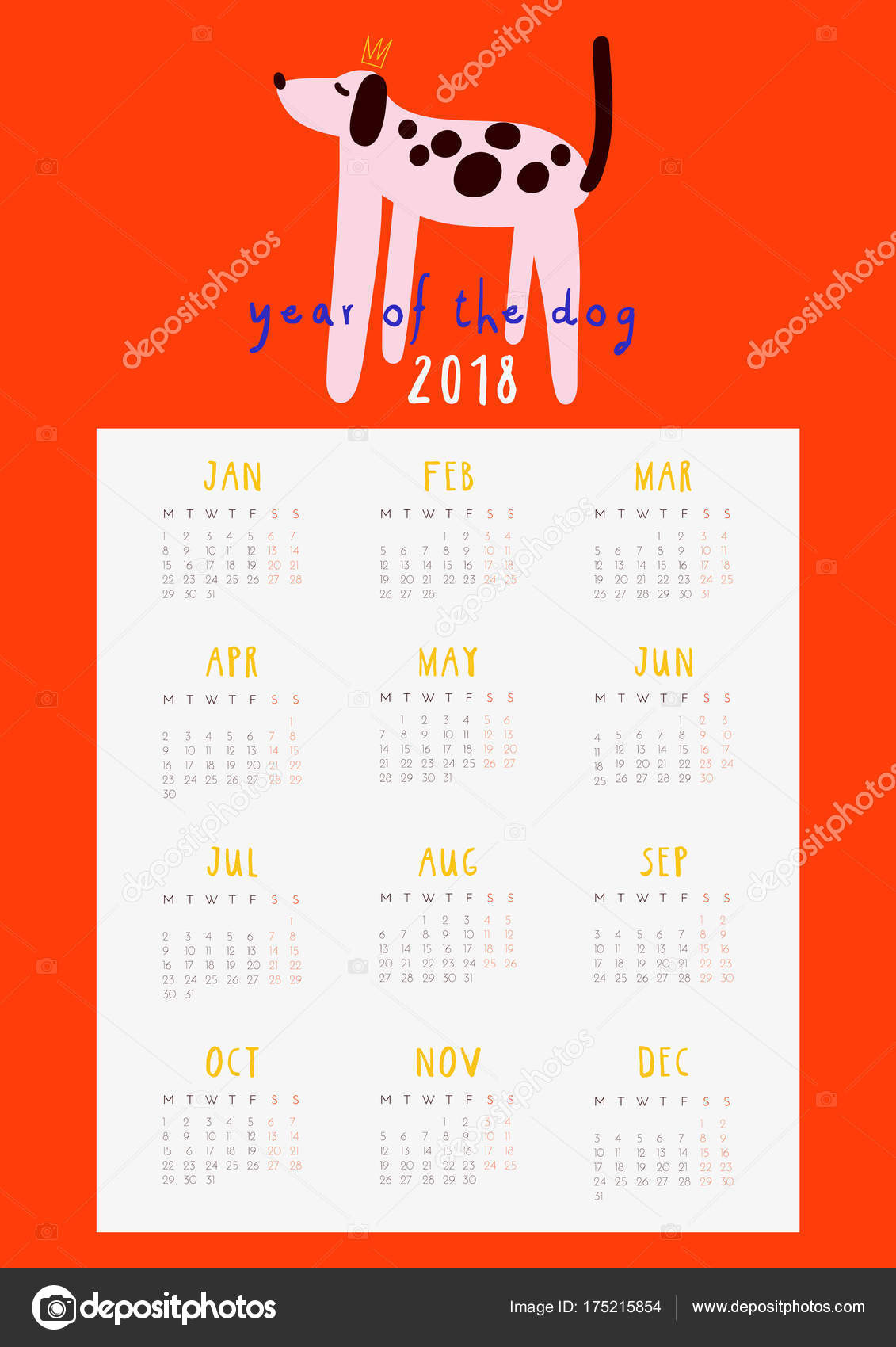 picture relating to Fun Printable Calendar referred to as Tremendous Lovable Exciting Calendar 2018 Calendar year Pet dog Regular monthly Calendar