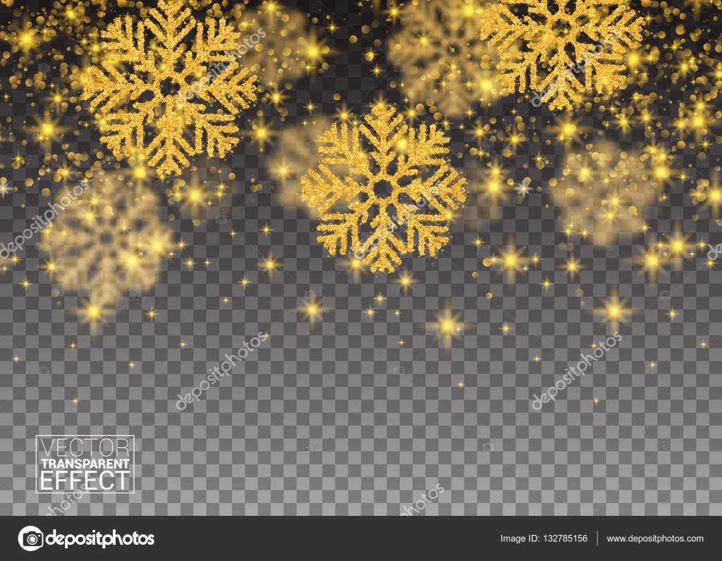 Fiocchi Di Neve Di Carta Modelli : Modello astratto casuale caduta oro fiocchi di neve scintillio