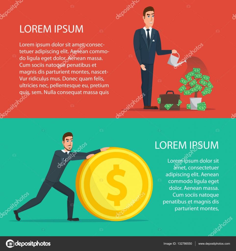 Empresario es regar un árbol de dinero. Aumentar los ingresos ...