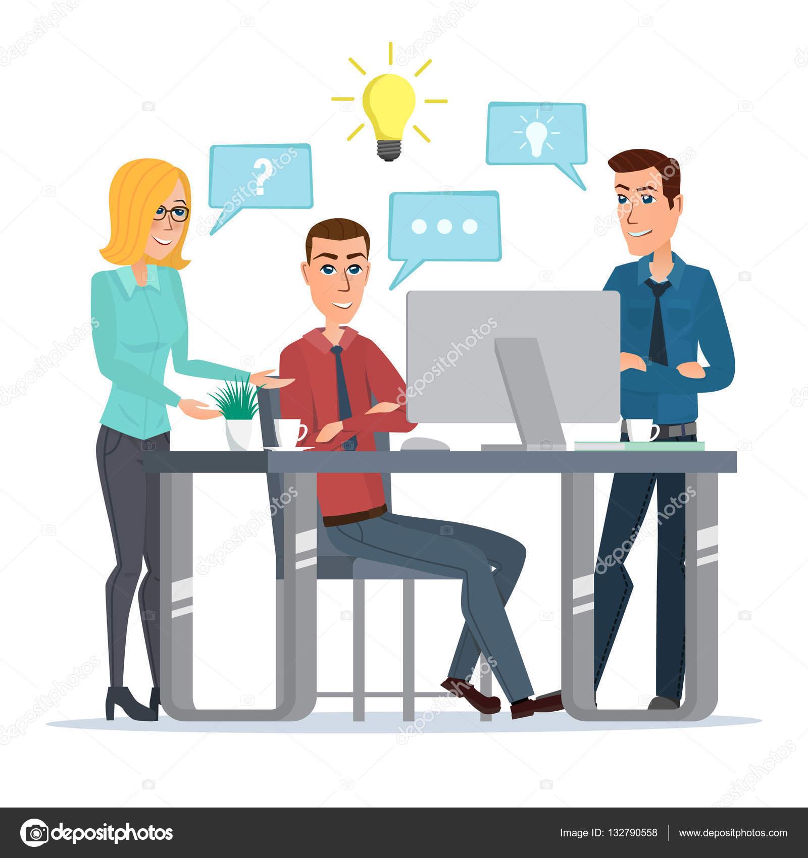 Idea de trabajo en equipo oficina negocio personas reuni n for Imagenes de oficina de trabajo