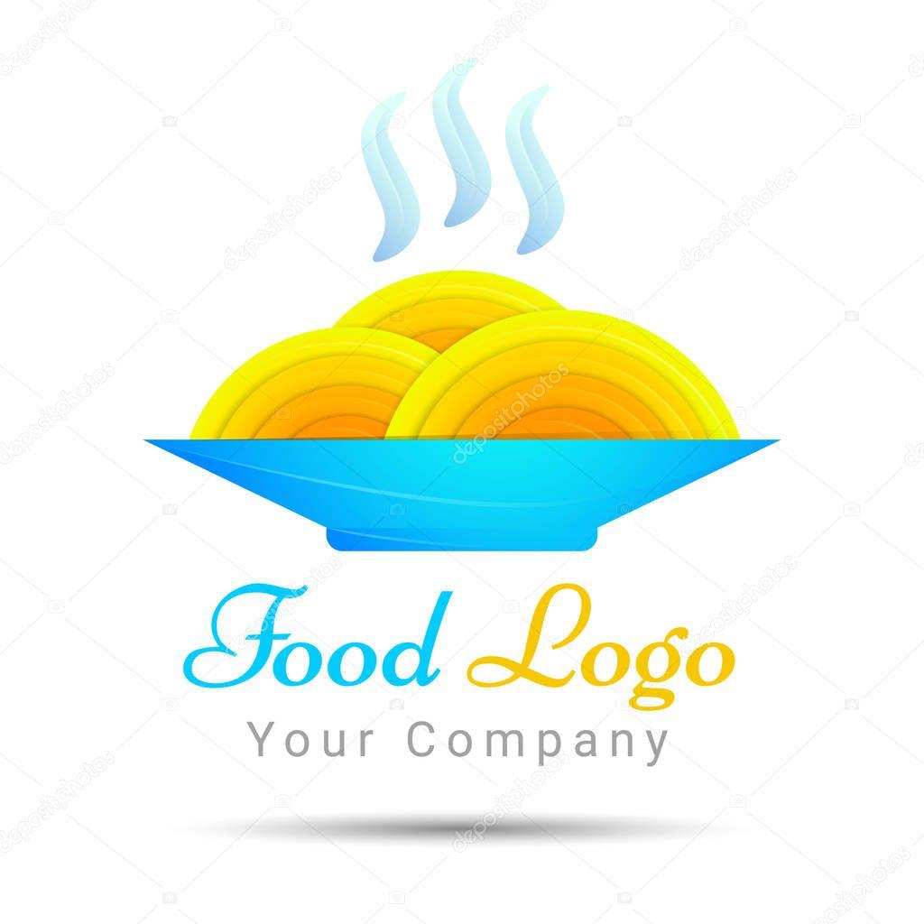 Spaghetti As Nest Icon Idea For Italian Restaurant Brand Colorful Vector 3d Volume Logo Design Corporate Identity Premium Vector In Adobe Illustrator Ai Ai Format Encapsulated Postscript Eps Eps Format