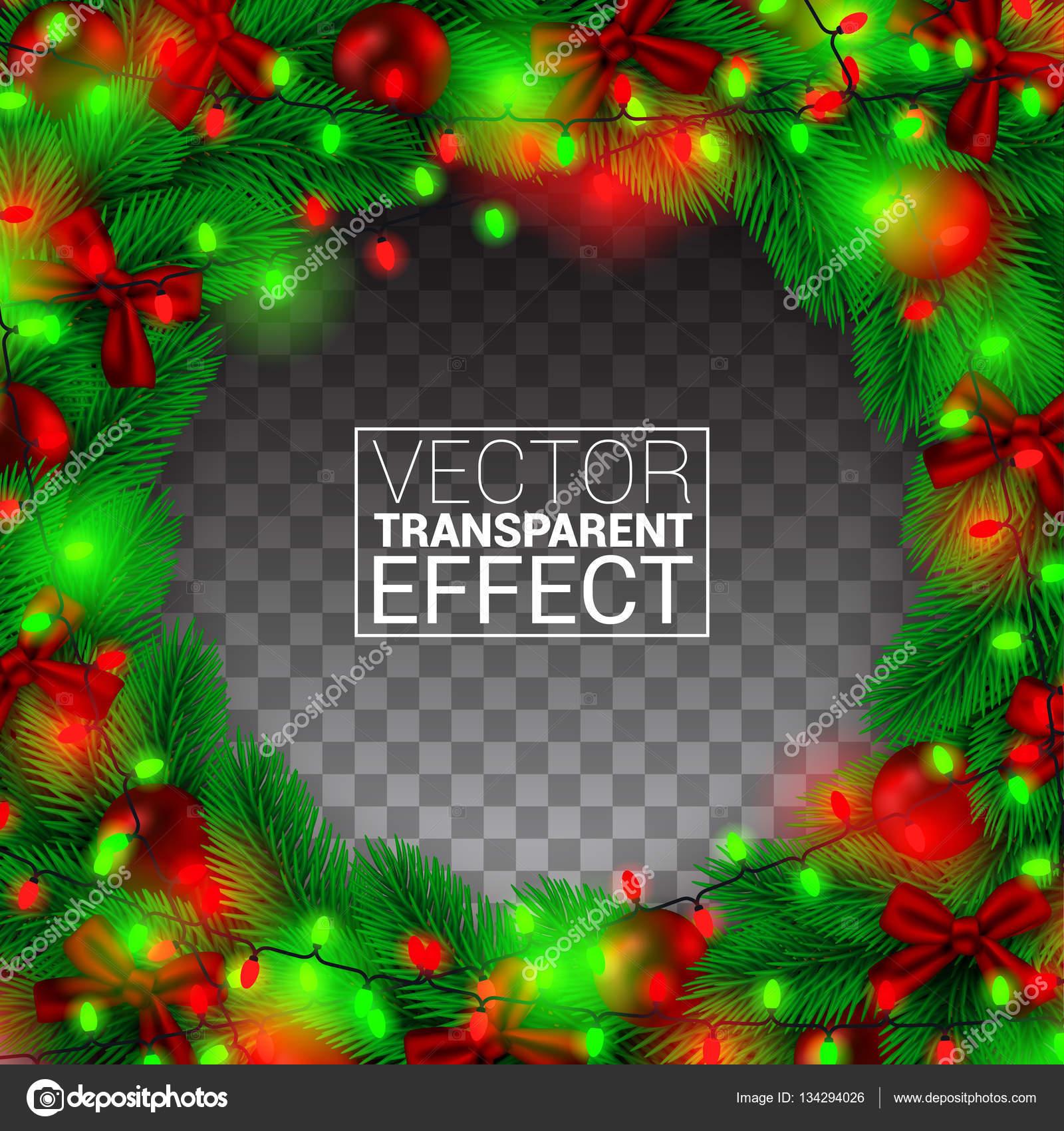 Frontera de Navidad realista, aislado sobre la transparencia de ...