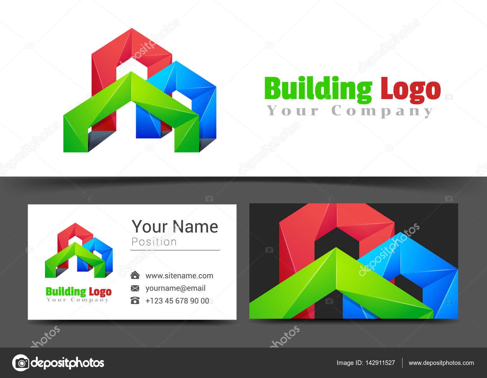 Logo De La Socit Real Estate Btiment Et Modle Carte Visite Signe Design