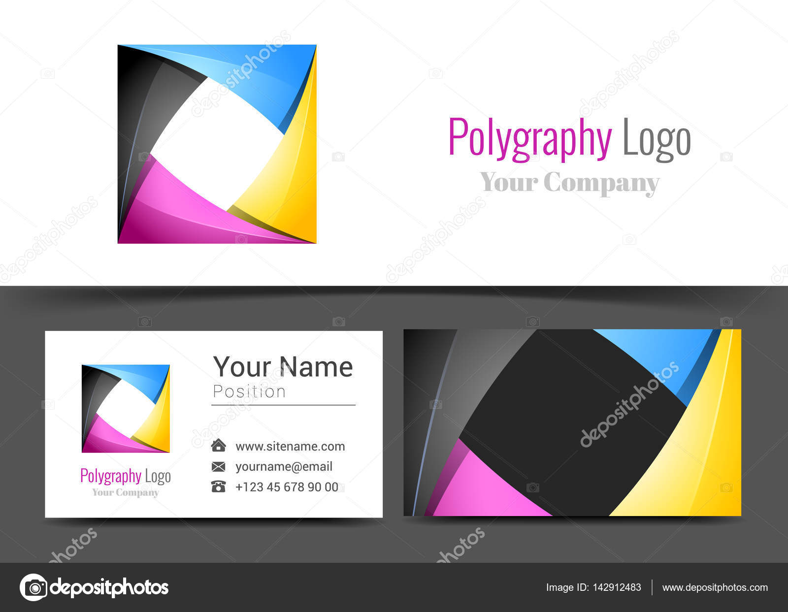 Abstract cmyk printing services media center corporate logo and abstract cmyk printing services media center corporate logo and business card sign template creative design magicingreecefo Images